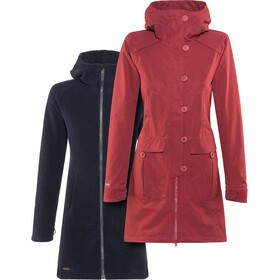 Bergans Bjerke 3in1 Coat Women Outer:Burgundy/Inner:Dark Navy